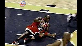 Last 1 Minute of Bulls vs Pacers Game 6 in 1998 Playoffs! Michael Jordan Loses Game Winning Shot!