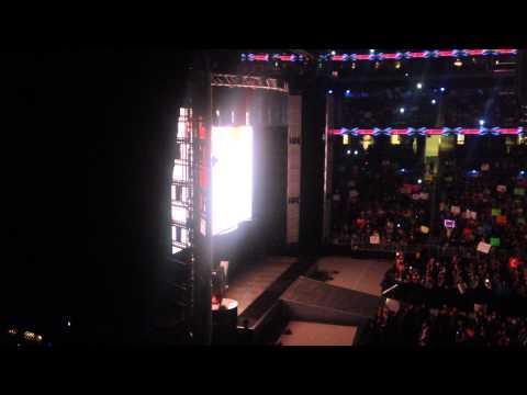 WWE Monday Night Raw Opening Pyro: February 16th 2015