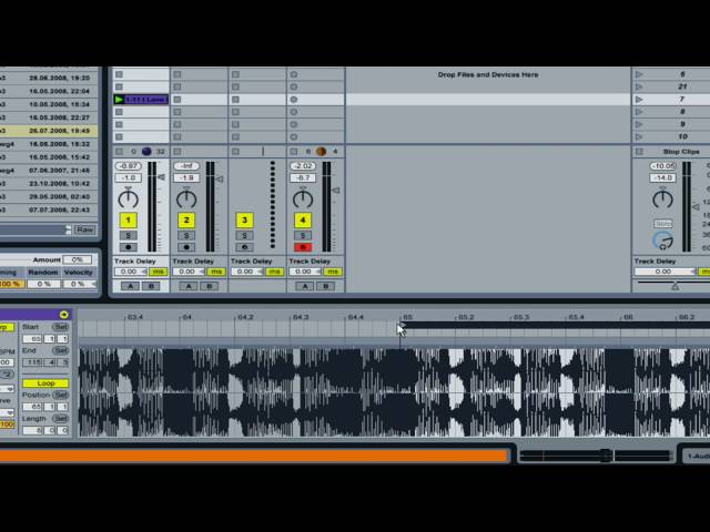 how to Warp a song in Ableton 8 (new) - MusicSoftwareTraining.com