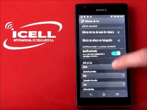 Sony Xperia SP ¿Cómo usar la personalización de color de este equipo?
