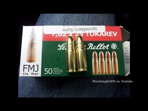 Ammo penetration test. 9mm vs 7.62x25 Tokarev. Bullet resistant composite target