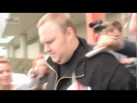 Megaupload Kim Dotcom Granted Bail @ North Shore District Court 22/02/2012