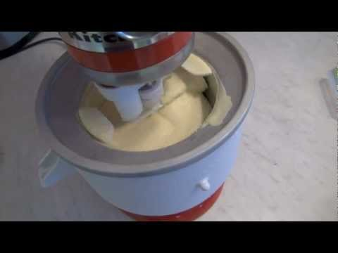 kitchenaid stand mixer icecream. first try