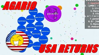 GAMEPLAY AGAR.IO PARTY TEAMS | USA !!!! ÉPICO.