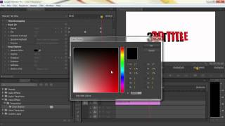 adobe premiere pro : make 3D text