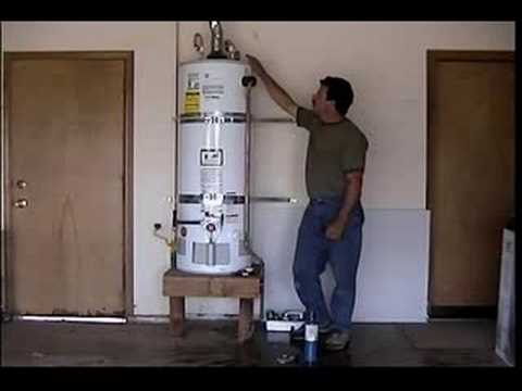 Don Collins Installing A Hot Water Heater In A Garage