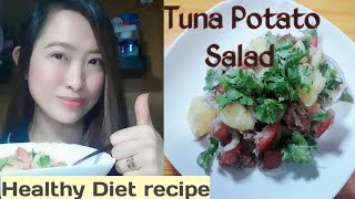 Tuna and Potato Salad (Diet recipe)- Easy to make yet very healthy food!