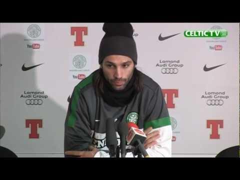 Celtic - Georgios Samaras Pre-match v Kilmarnock, 07/12/2012