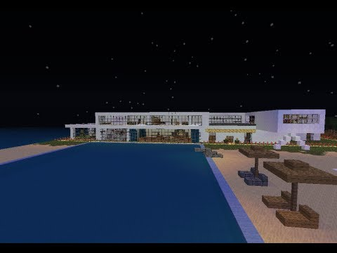 Minecraft casa moderna descarga download youtube for Casas modernas grandes minecraft