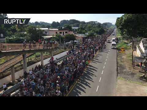 Fleeing poverty and violence: Thousands of migrants from Honduras journey to Mexico