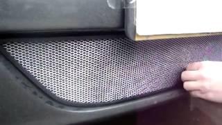 Видео: Защитная сетка радиатора Renault Logan chrome