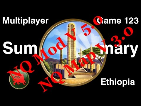 Civilization 5 Multiplayer 123: Ethiopia [Summary] ( BNW 6 Player Free For All) Gameplay/Commentary