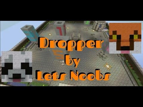 Lets Noob Minecraft Dropper Game (TITAN DROPPER) review and download.