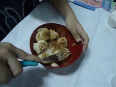 Culinária Infantil com Davi - Doce de Banana com Canela (Microondas)