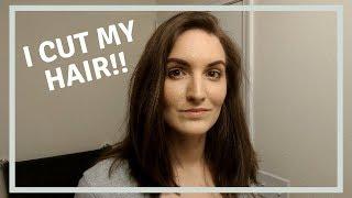 HOW TO DIY HAIRCUT! CUTTING MY LONG BOB HAIR CUT AT HOME