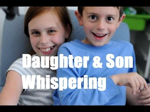 ASMR Daughter and Son Whispering and Reading