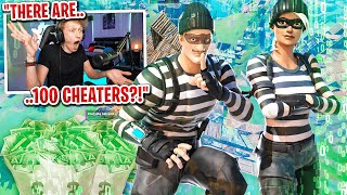 I got 100 CHEATERS to scrim for $100 in Fortnite... (griefing is allowed)