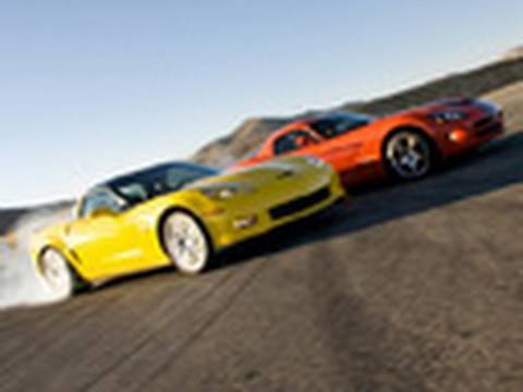 Burnout Super Test Part 2: Viper SRT-10 vs. Corvette Z06 Carbon Video