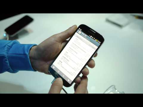 Samsung Galaxy S 4 Air View & Air Gesture demo