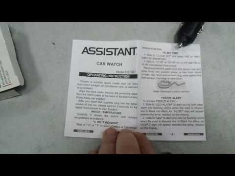 Термогигрометр часы Assistant AH-0317 (лучший подарок автомобилисту)