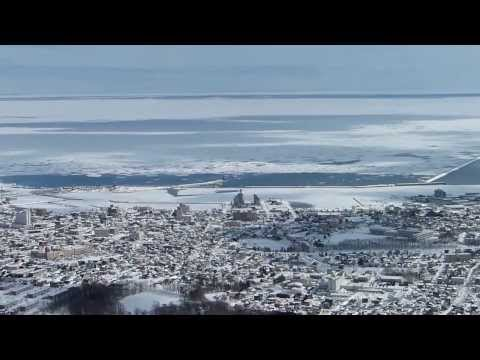 オホーツク紋別市の流氷