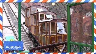 Budapest Castle Hill Funicular Tram (Budavári Sikló) Cable Car - Budapest attractions - Hungary