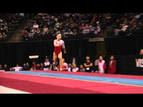 Wakiko Ryu - Vault Finals - Vault #1 - 2012 Kellogg&#039;s Pacific Rim Championships (1st)