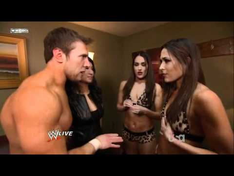 The Bella Twins,Daniel Bryan & Gail Kim Backstage Segment