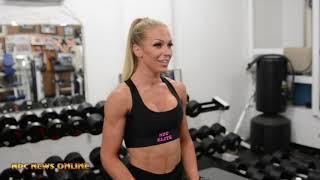 IFBB Bikini Pro's Frida Paulsen Stern & Kim Gutierrez Shoulder Workout Video