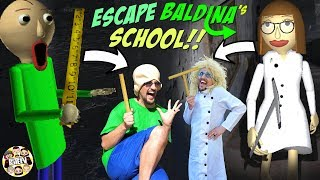 ESCAPE LADY BALDI'S Basics School!  (FGTEEV Baldina Gameplay/Skit)