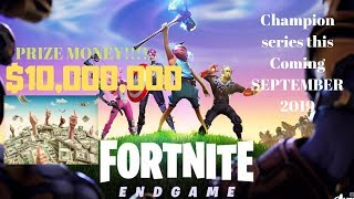 Fortnite Champion Series $10 million in prize money
