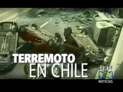 momentos  del terremoto de CHILE(8,8) capturado en video