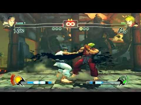 Ryu O Seu Poder Oculto Vtoria Street Fighter Iv - Gameplay