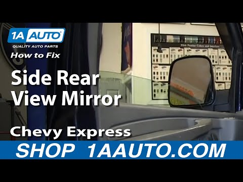 How To Install Fix Broken Side Rear View Mirror Chevy Express GMC Savana