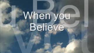 Mariah Carey and Whitney Houston sing...When you Believe