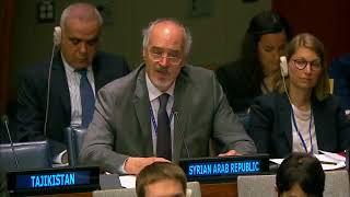 HE Bashar Al Jaafari Accuses UK, US, France of Financing Terrorism in Syria