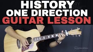 History One Direction Guitar Tutorial Lesson Acoustic - Easy