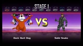 """Super Smash Bros. Crusade Classic Mode Duck Hunt Dog Run """"Real Gun"""""""