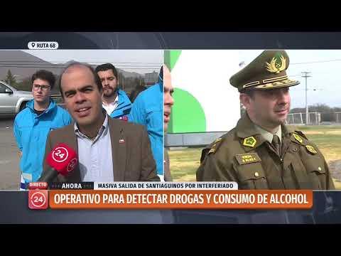 Realizan operativo para detectar consumo de drogas y alcohol en conductores en Ruta 68
