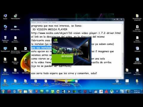 ver peliculas en 3d en cualquier LCD (solo usuarios NVIDIA) 2012