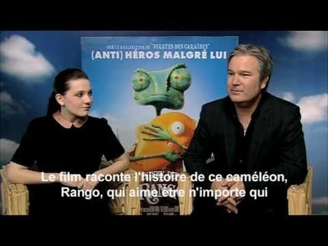 "Interview Johnny Depp, Abigail Breslin & Gore Verbinski Pour Le Film ""Rango"""