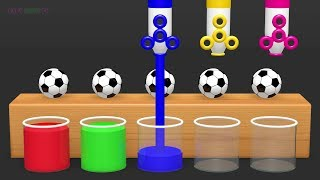 Learn Colors with Surprise Soccer Balls  h   Magic