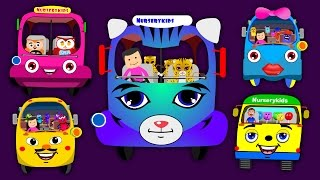The Bus Finger Family Nursery Rhymes for Children | Cartoon Animated English Rhymes for Kids