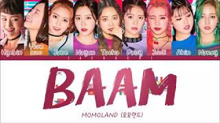 Momoland 모모랜드 Baam Color Coded Eng Rom Han