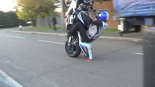 GSXR 1000cc WHEELIES STUNTS MADNESS / BACK IN THE GAME / UK BIKE LIFE