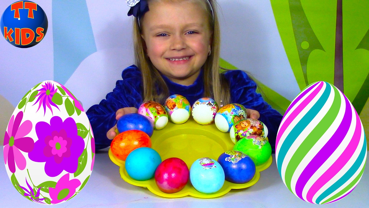 ПАСХА Готовимся к Празднику Красим яйца разными цветами Видео для детей