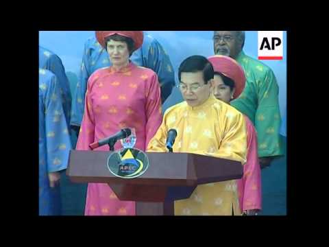 Leader's photo-op at the end of the APEC summit