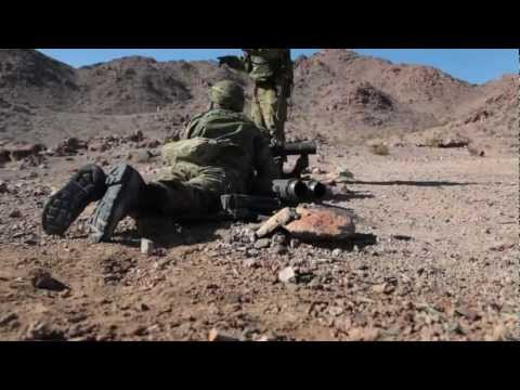 Japanese Self Defense Forces Fire Howa 84RR Rocket System As Part Of Trench Warfare Training