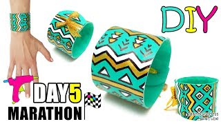 DIY Ethnic Bracelet Out Of Glue Sticks for Glue Gun - DAY 5 of 7-Day Marathon Of Glue Gun DIYs