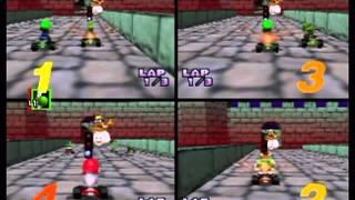 Mario Kart 64 - Four-Player 150cc VS Mode (Actual N64 Capture)